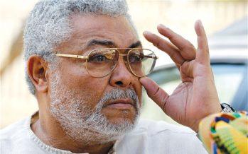 Rawlings Showers Praises on NPP at NDC's Rally