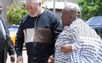 Prez Elect Nana Addo And Former Prez Rawlings In A Secret Meeting