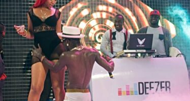PHOTOS: Michy Supports Shatta Wale on Ghana Meets Naija Stage