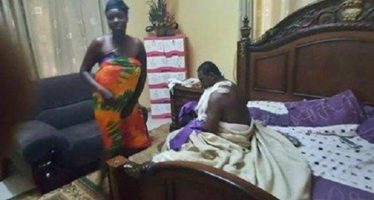 PHOTOS: Ghanaian Pastor Caught Pants Down With A Married Woman On Her Matrimonial Bed