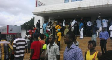 Police Recruitment: PHOTOS of the Queues at GCB this Morning