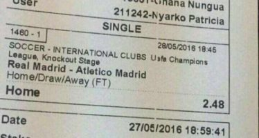 Ghanaian Picks Real Madrid but Loses a GHS 10,000 Bet, this is why we Think it is a Fake Slip