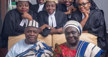 PHOTOS:Meet The Nigerian Couple Whose 5 Daughters Are All Lawyers