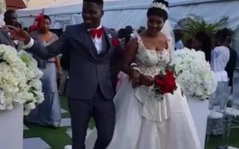 Photos: A-Plus and Akosua Vee's Beautiful White Wedding