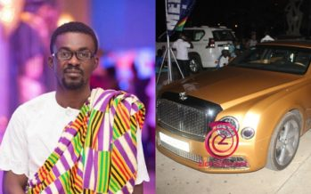 Check out Photos of the Gold Bentley Zylofon Media Boss Drove to Becca @ 10
