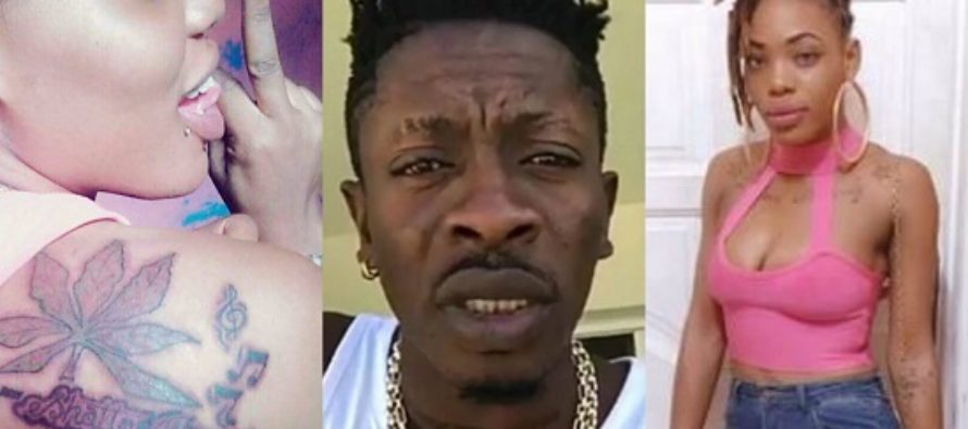 Abena Jamaica has Tattooed Shatta Movement at her Back, Check it out