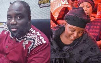 Photos: The Way KABA's Widow Cried at the Memorial will Make you Sad Today