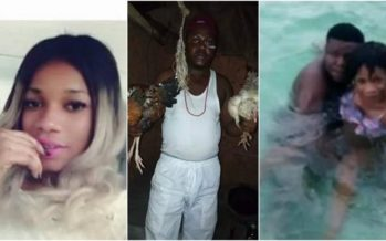 Photos: This Mallam Took one of his Girlfriends for Swimming and People are Surprised