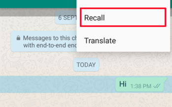 Finally! You Can Now Call Back Your Messages/Images On WhatsApp!! Here Is How