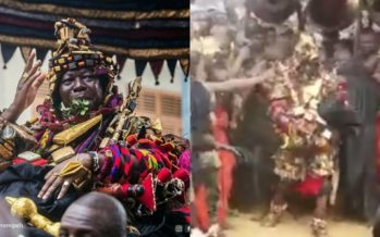 See Asantehene's Amazing Dance Moves in the All Powerful Batakare Kese3 Yesterday