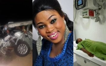 Photos: Gospel Musician, Joyce Blessing in Coma at 37 Military Hospital after an Accident