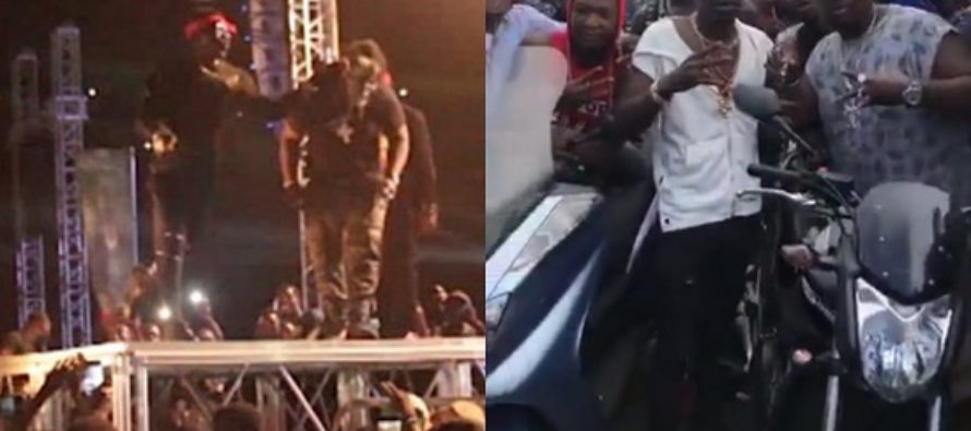 Shatta Wale Buys a Motorbike for the Bodyguard he Slapped on S-Concert Stage