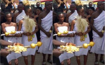 Photos: We Saw Real Children of a River god and they Looked Amazing at Asantehemaa's Funeral