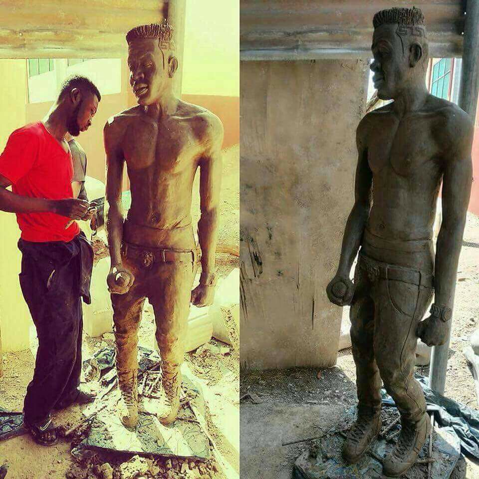 The Guy who Made Michael Essien's Statue is Almost Done with one for Shatta Wale