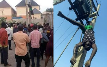 This Man was Electrocuted whiles Trying to Steal Transformer Parts